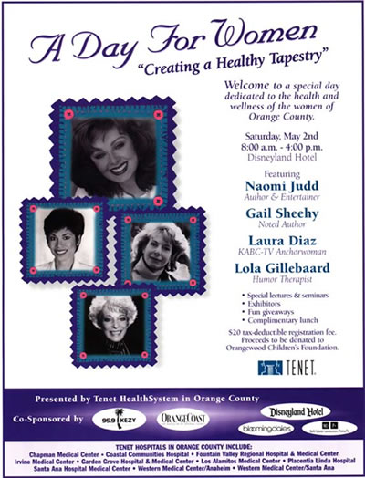 Lola is guest keynote speaker with Naomi Judd